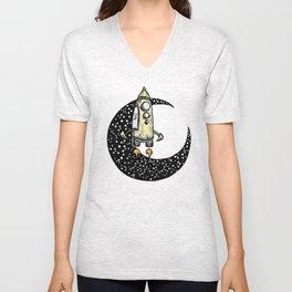 Spaceship Karen and moon Unisex V-Neck