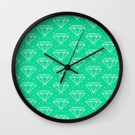 DIAMOND ((emerald)) Wall Clock