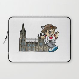 I LOVE COLOGNE Cathedral Germany Rhine Church Laptop Sleeve