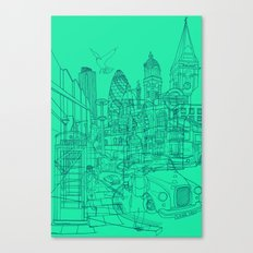 London! Mint Canvas Print