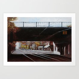 Degrassi Railpass Art Print