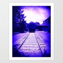 Indigo Train Art Print