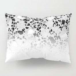 Concrete Terrazzo and Black and White Modern Monochrome Design Pillow Sham