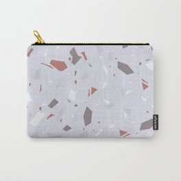 Soft Lilac Terrazzo - Delicate Granite Marble Speckle Pattern Carry-All Pouch