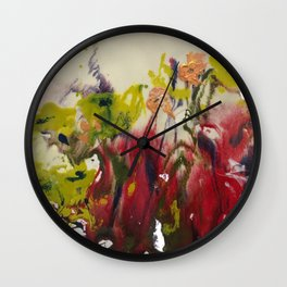 floral splash 1 Wall Clock