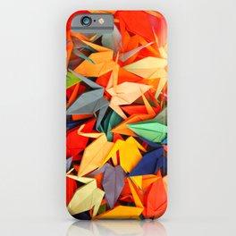 Senbazuru rainbow iPhone Case