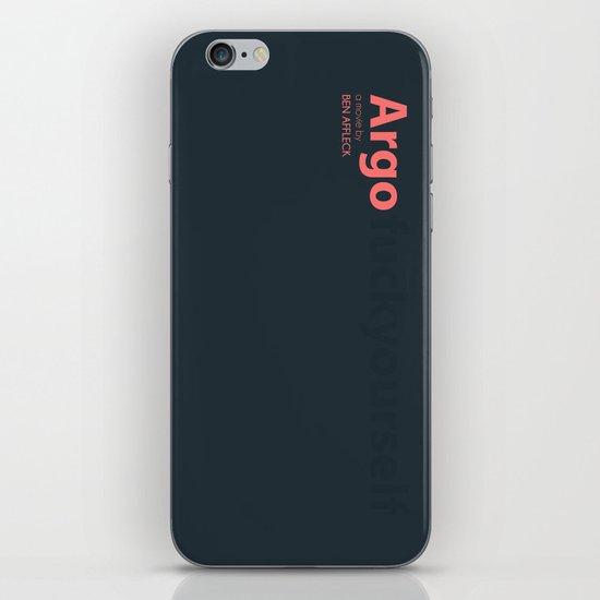 Argo - minmal poster iPhone & iPod Skin