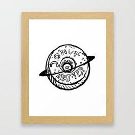 Donut Planet Cosmic Bliss Illustration Framed Art Print