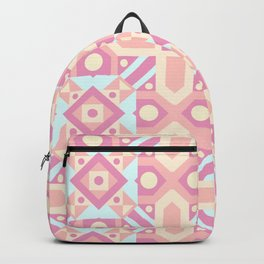 Pink teal yellow ethnic moroccan motif pattern Backpack