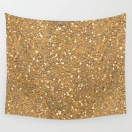 Gold Glitter Wall Tapestry