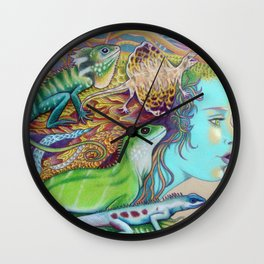 A Tangle Of Lizards, Lizard Art Wall Clock