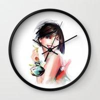 perfume Wall Clocks featuring perfume by tatiana-teni