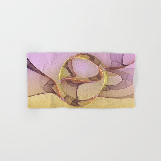 Abstract Motions, Modern Fractal Art Hand & Bath Towel
