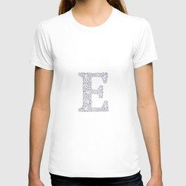 Floral Letter E T-shirt