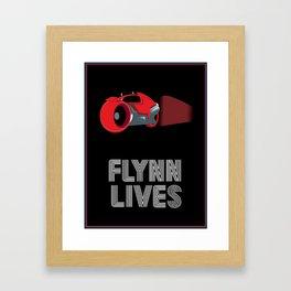 Flynn Lives Light Cycle Framed Art Print
