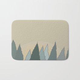 Evergreen Woods at Sunset Bath Mat