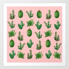 NEW Cactus PinK!! Art Print