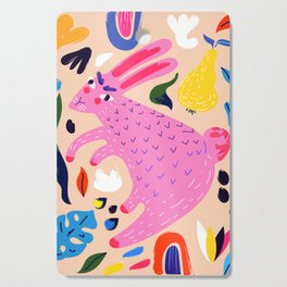 Pink Bunny Cutting Board