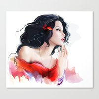 gypsy Canvas Prints featuring Gypsy by tatiana-teni