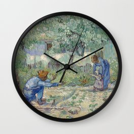 Vincent van Gogh -  First Steps Wall Clock