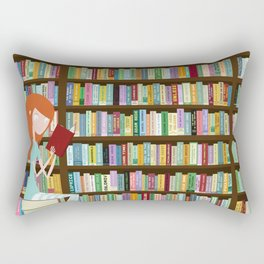 When in doubt, go to the library Rectangular Pillow
