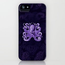 Octopus1 (Purple, Square) iPhone Case