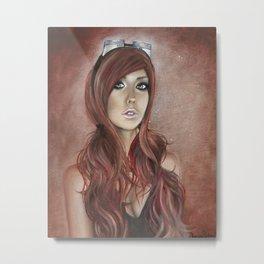 Vivian - Steam Girl Metal Print