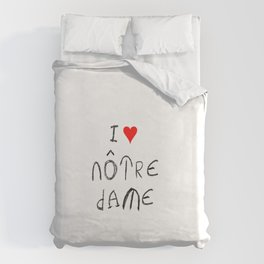 I love notre dame de Paris. Duvet Cover