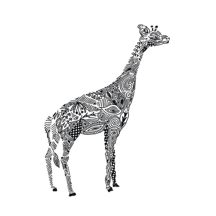 Designer Giraffe Duvet Cover