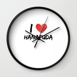 I Love Hanafuda Wall Clock