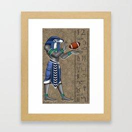 Seahawk Pharoah Framed Art Print