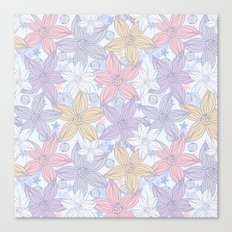 My dancing flowers Canvas Print