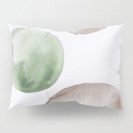 13 |181104 Australian Leaf Green & Brown Earth Orbs | Watercolour Circle Abstract Geometrical Pillow Sham