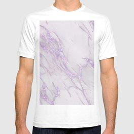 Marble Love Purple Metallic T-shirt