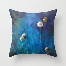Dandelions at dusk Throw Pillow