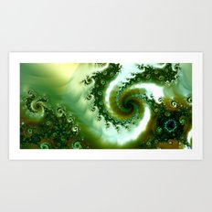 Amongst the seaweed Art Print