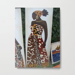 african traditional costume Metal Print