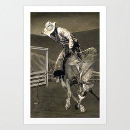Cowboy Eddie Art Print