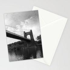 Wheeling Suspension Bridge - B&W Stationery Cards