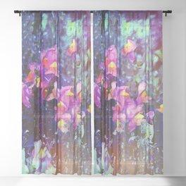 Garden Dragons Snap Sheer Curtain