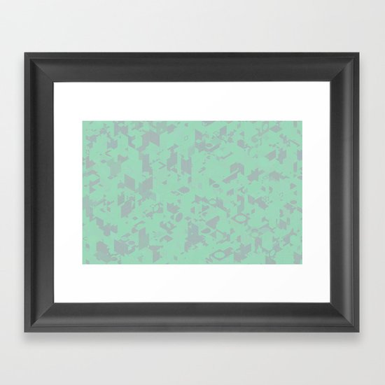 Panelscape: colours from Thorns Mint Framed Art Print