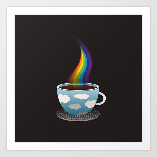 Cup of Rainbow Art Print
