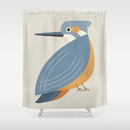 Whimsy Blue-eared Kingfisher Shower Curtain