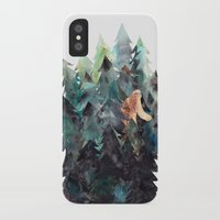 bigfoot iPhone & iPod Cases featuring Bigfoot Forest by The Hungry Fox