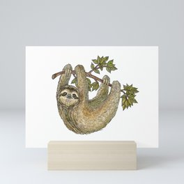 Sloth on a Branch Mini Art Print