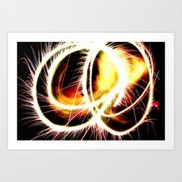 Sparkler Stunner Art Print