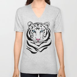 Tiger of winter | O Tigre do inverno Unisex V-Neck