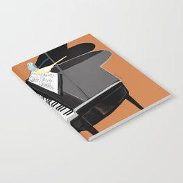 Piano lesson with Angel Notebook
