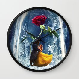 Beauty and the Beast-Rose Wall Clock