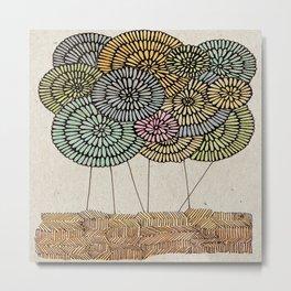 Floating Garden Metal Print